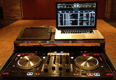 Numark NS6, iPad, & MacBook Pro