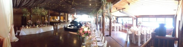 The lovely reception hall...